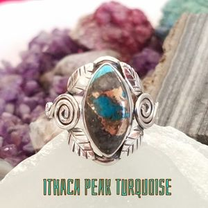 Rare Ithaca Peak Turquoise Ring Sterling Silver